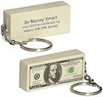 100 Dollar Bill Key Chain Stress Balls